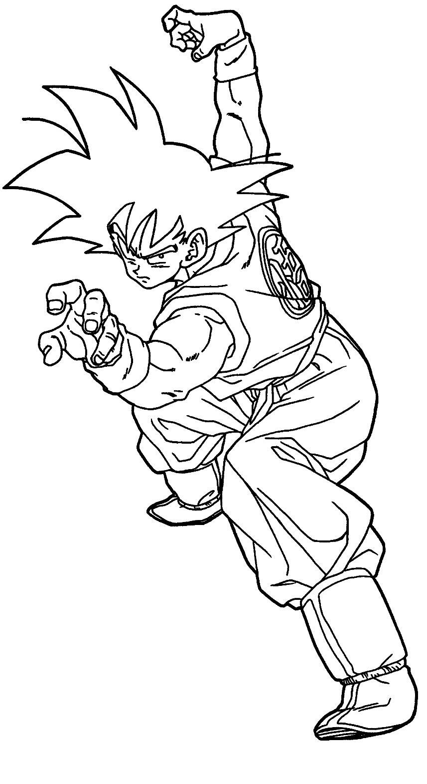 Desenho do Goku para pintar