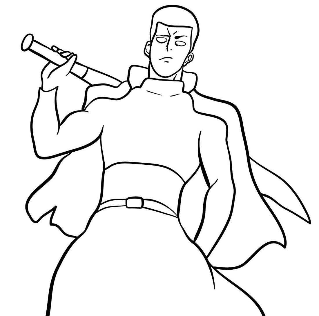 Desenho do One Punch Man para colorir