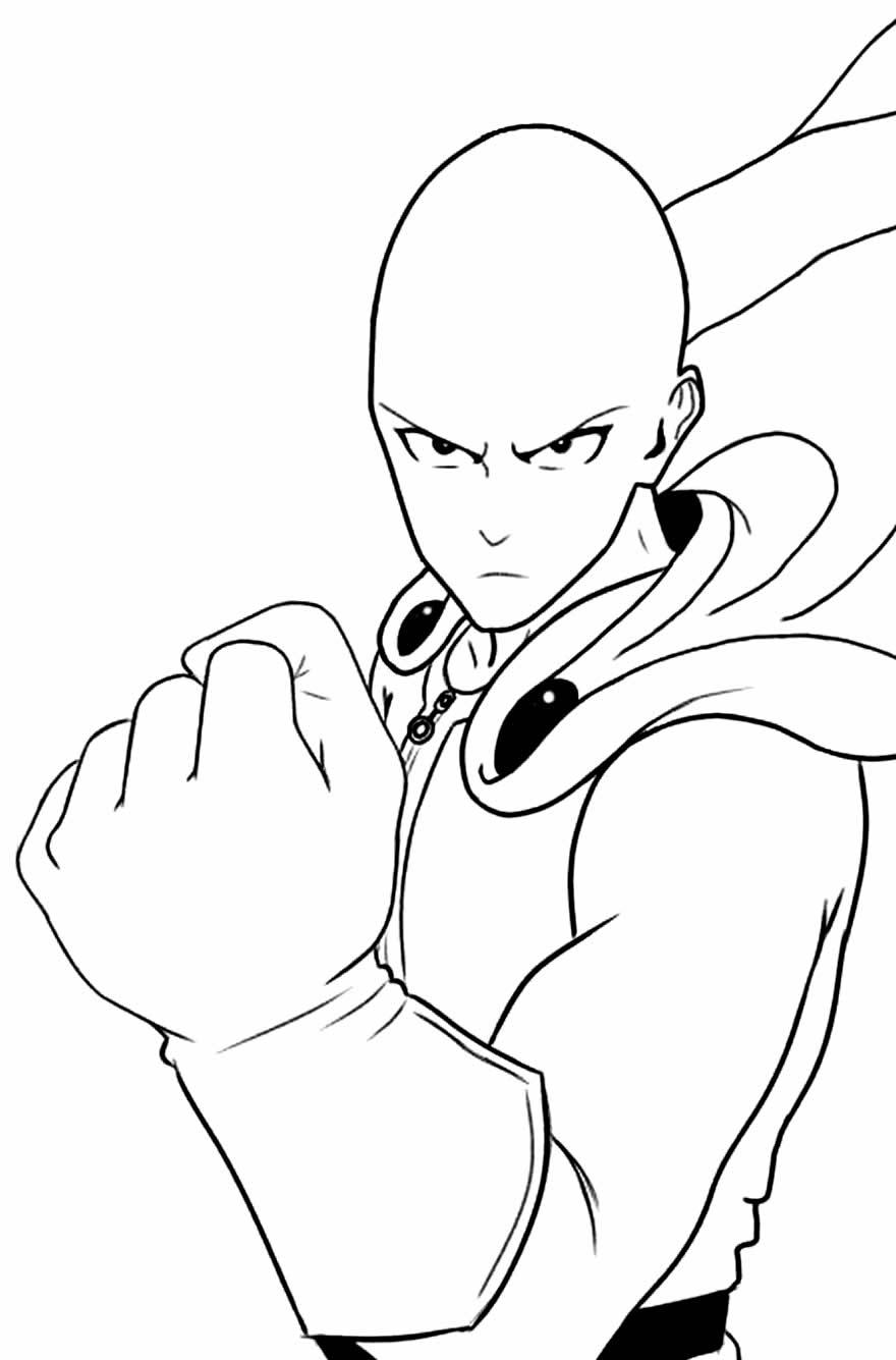 Desenho do Saitama para colorir
