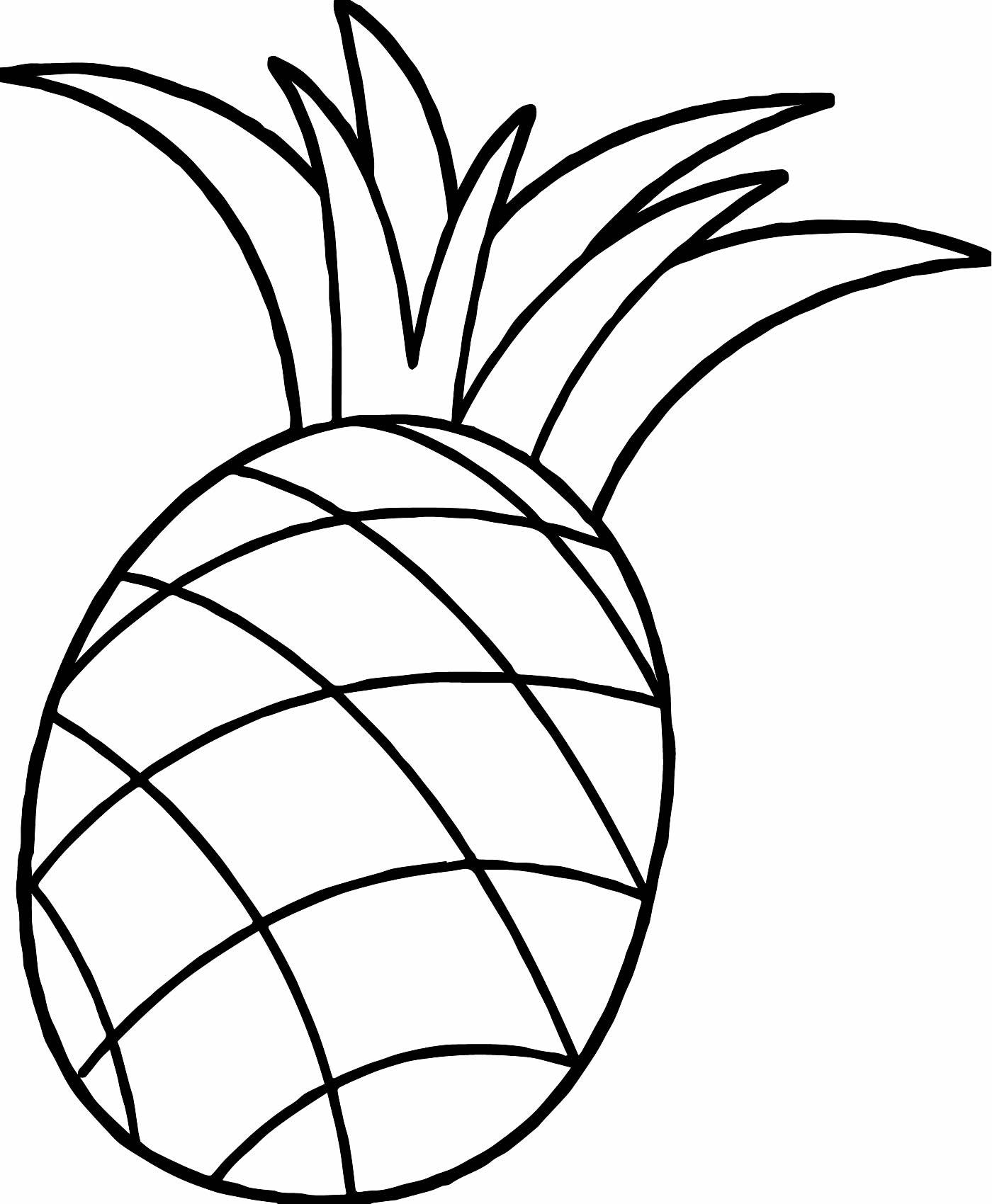 Molde de Abacaxi para imprimir