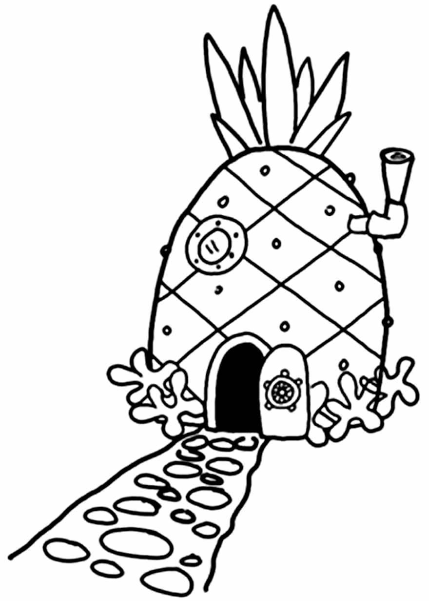 Desenho de Casa Abacaxi para colorir