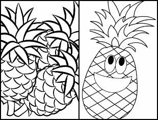 Desenhos de Abacaxi para colorir