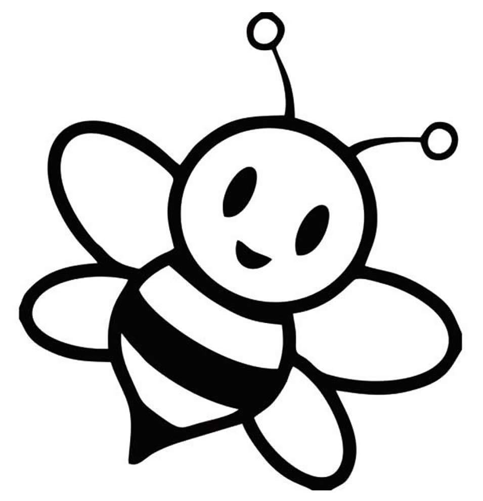 Imagem de abelha para pintar