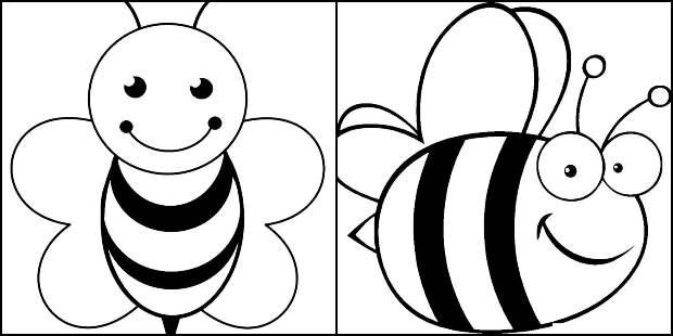 Desenhos de abelhinha para colorir