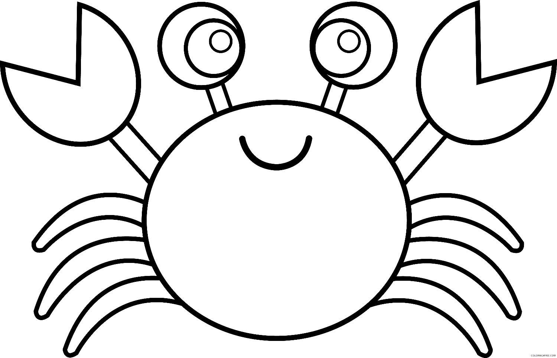 Desenho de Caranguejo para colorir
