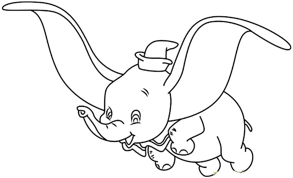 Molde de Dumbo para imprimir