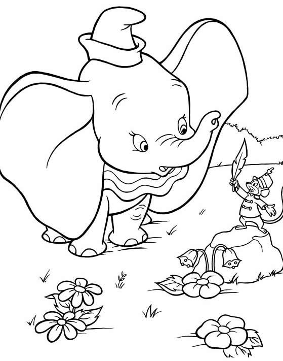 Desenho de Dumbo para colorir