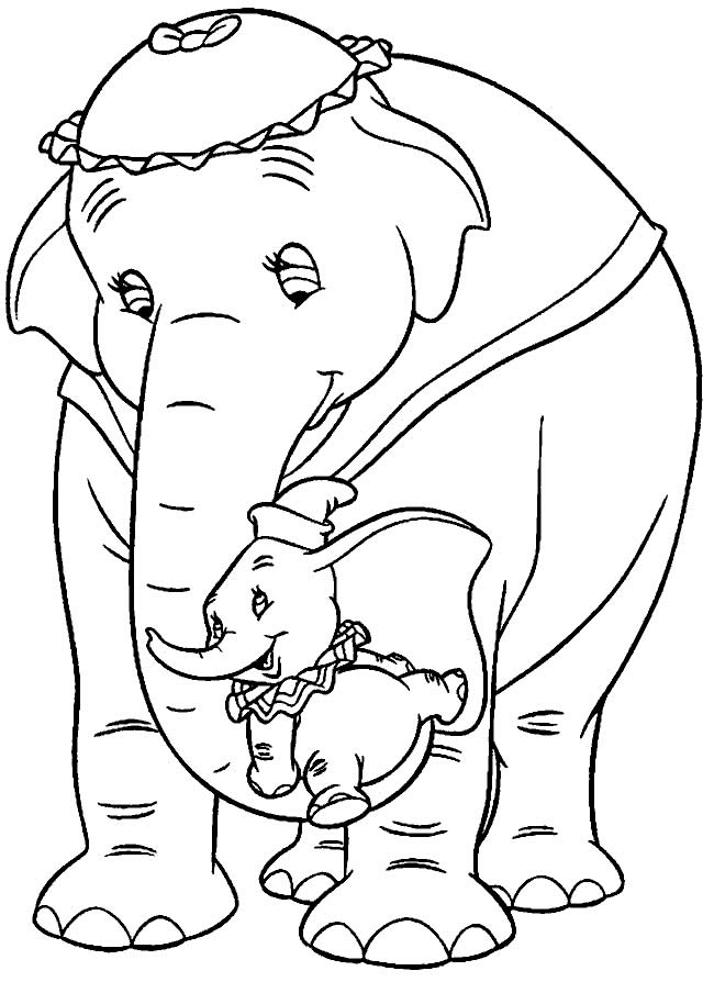 Imagem de Dumbo para colorir