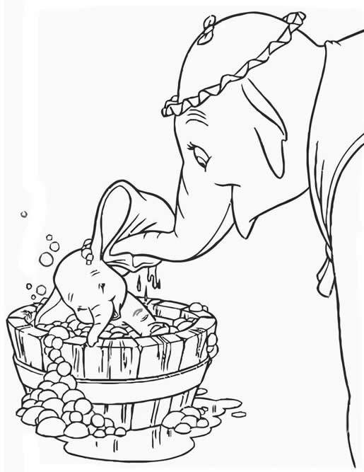 Imagem de Dumbo para pintar