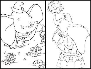Desenhos de Dumbo para colorir