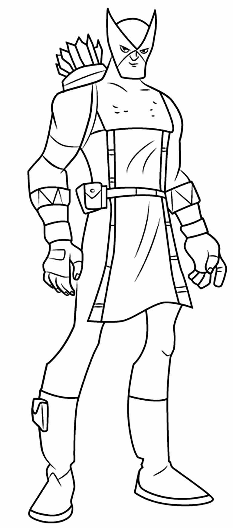 Desenho para pintar do Gavião Arqueiro