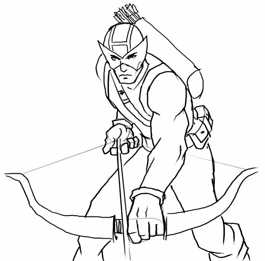 Desenho para colorir do Gavião Arqueiro