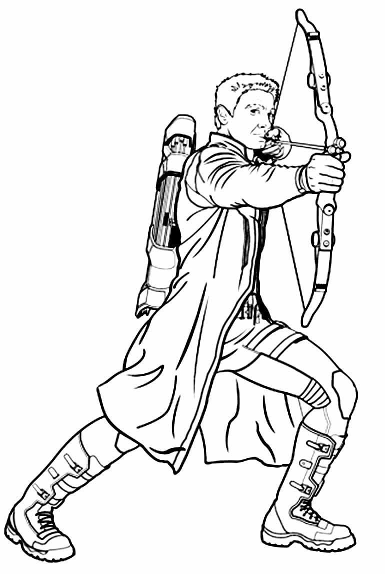 Desenho do Gavião Arqueiro para pintar