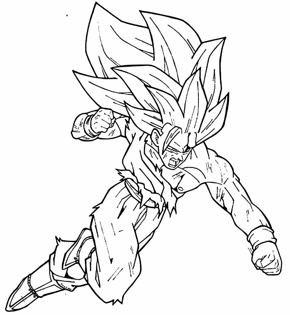 Imagem de Goku para pintar