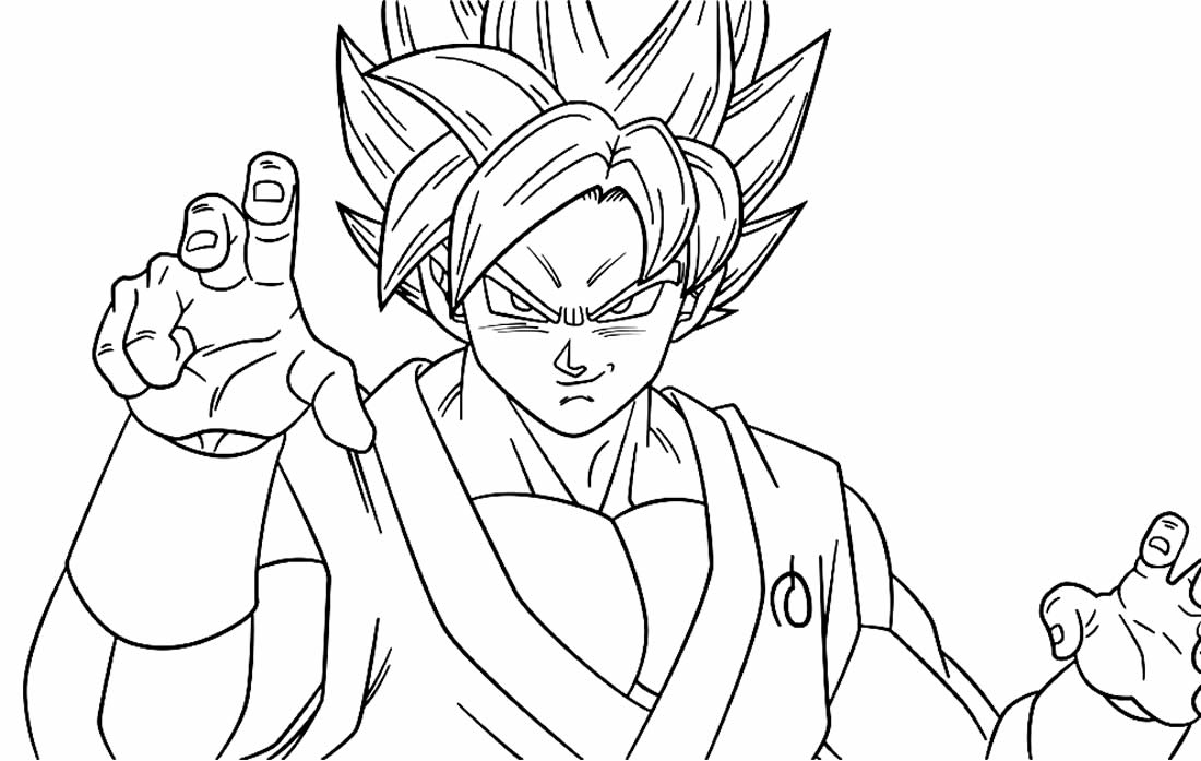 Imagem de Goku para colorir