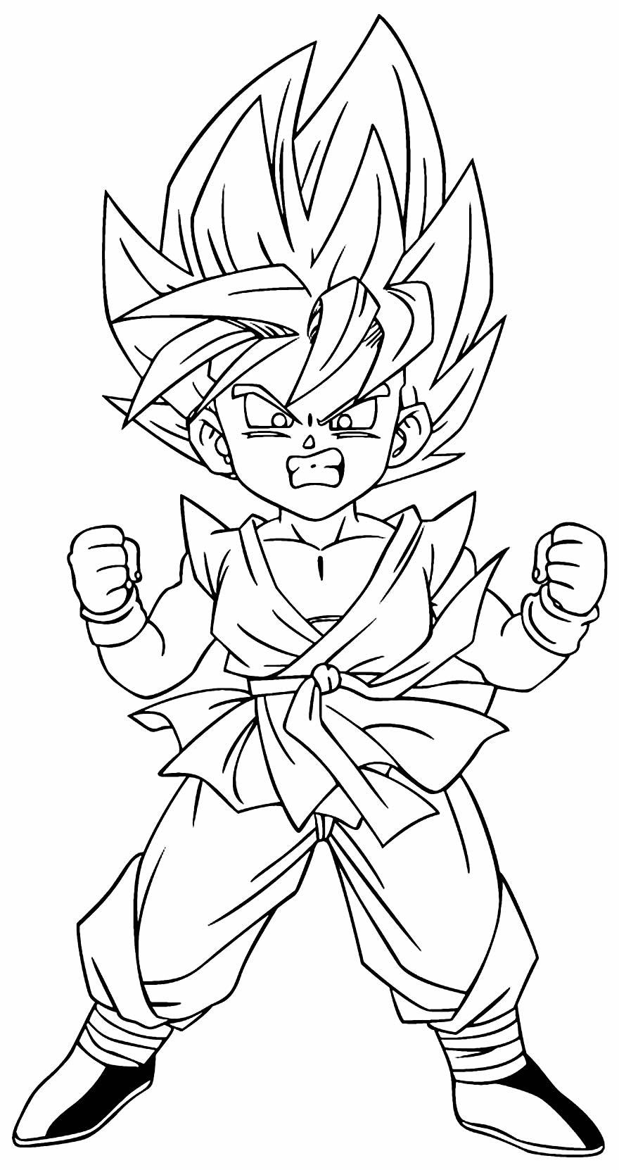 Desenho de Goku para colorir