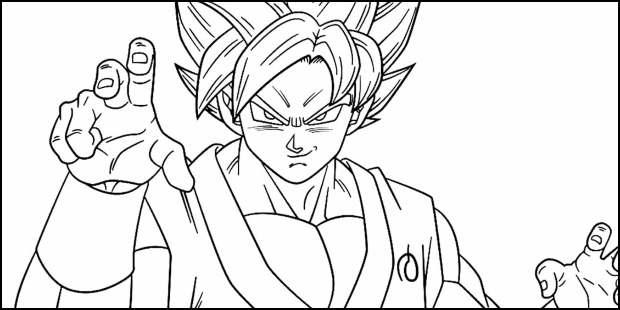 Desenhos de Goku para imprimir e colorir