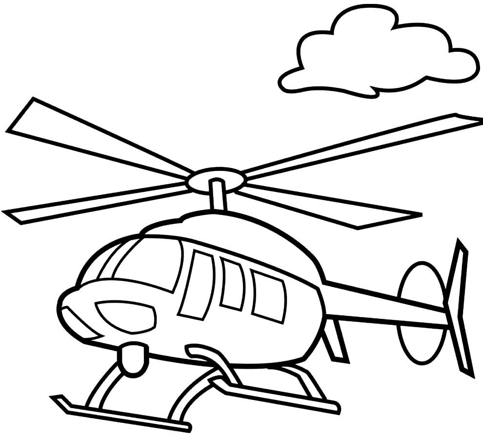 Molde de Helicóptero para imprimir