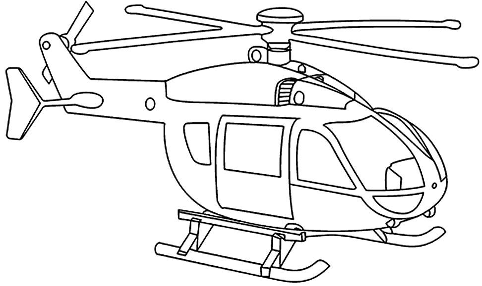 Desenho de Helicóptero para pintar