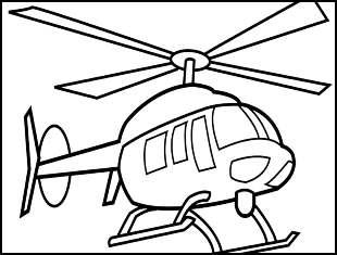 Desenhos de Helicóptero para colorir