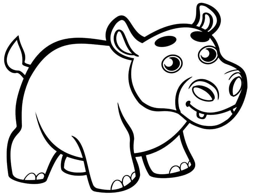 Imagem para pintar de hipopótamo