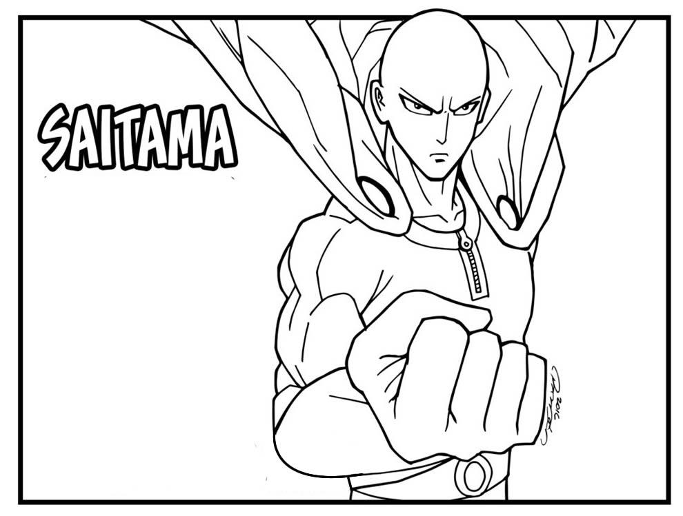 Desenho One Punch-Man para pintar