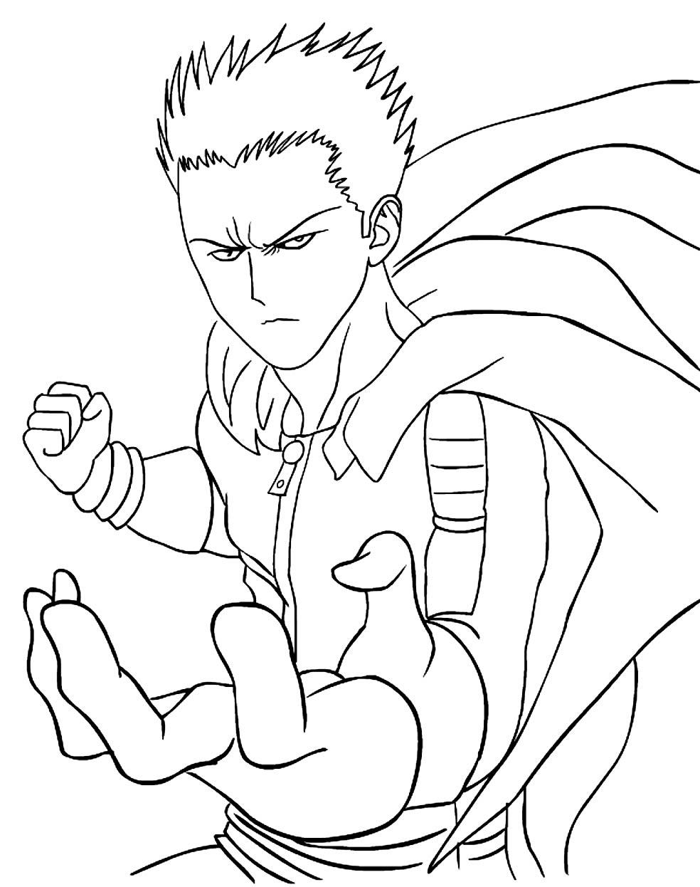 Desenho One Punch-Man para colorir