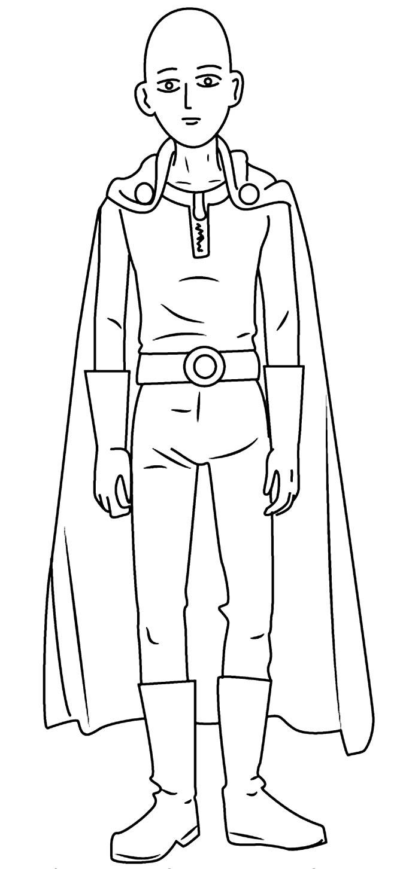 Desenho do One Punch-Man para colorir