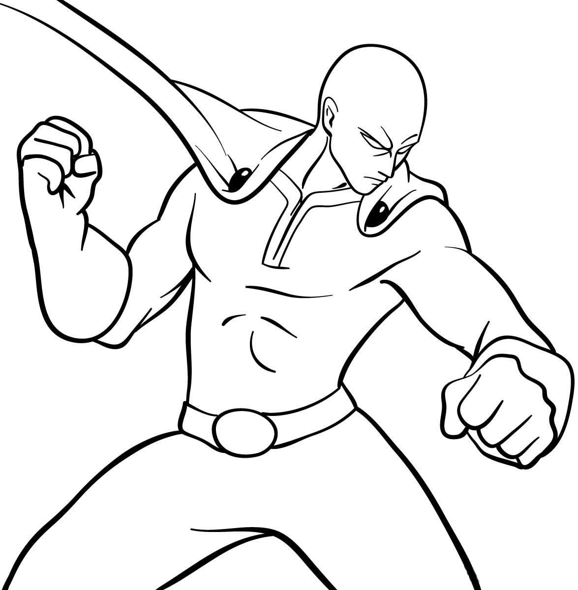 Desenho de Saitama para colorir