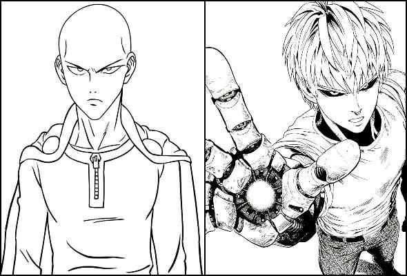 Desenhos do One Punch-Man para colorir