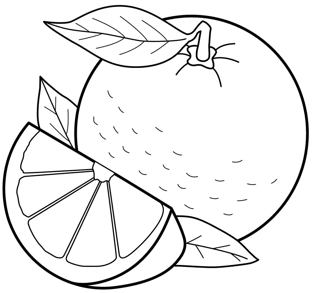 Imagem de Laranja para colorir