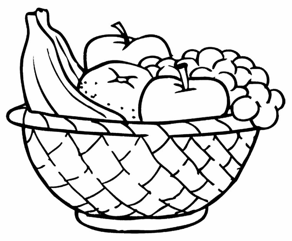 Desenho de Maçãs e outras frutas