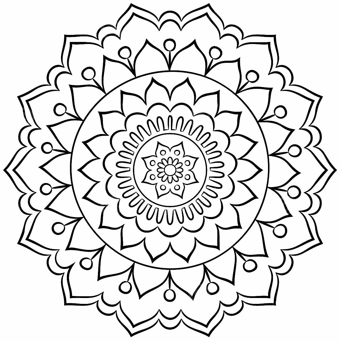 Imagem de Mandala para colorir