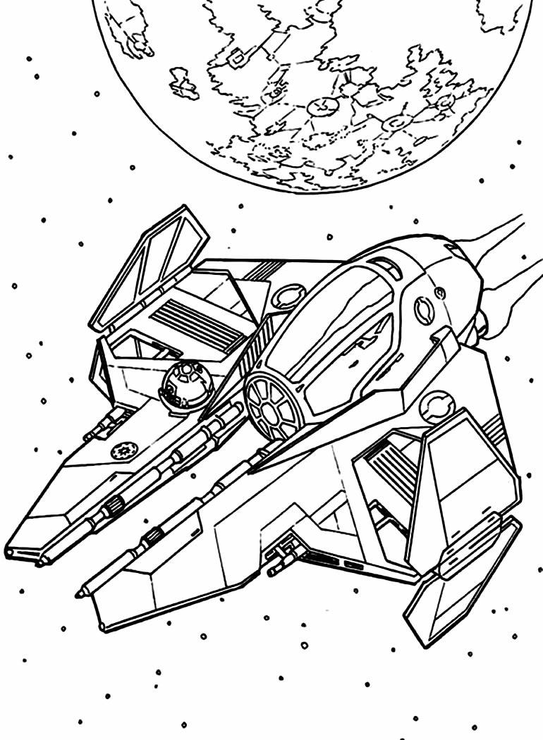 Imagem de Nave Espacial para colorir