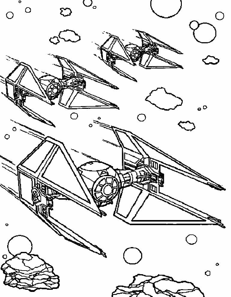 Desenho de Nave Espacial para pintar