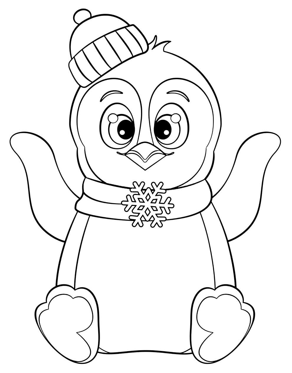 Imagem de Pinguim para pintar