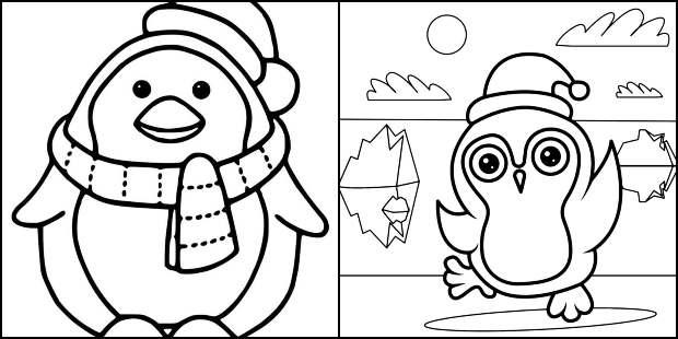 Desenhos de Pinguim para colorir