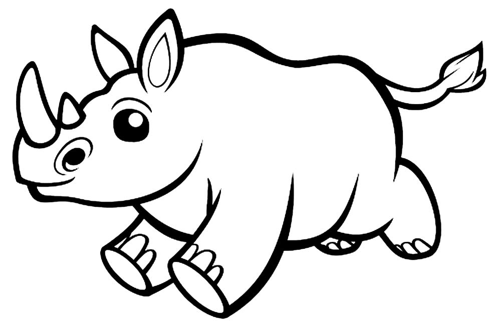 Desenho de Rinoceronte para colorir