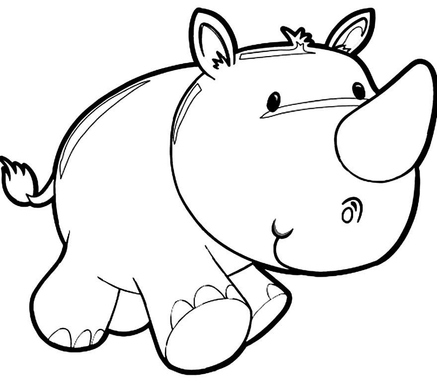 Imagem de Rinoceronte para colorir
