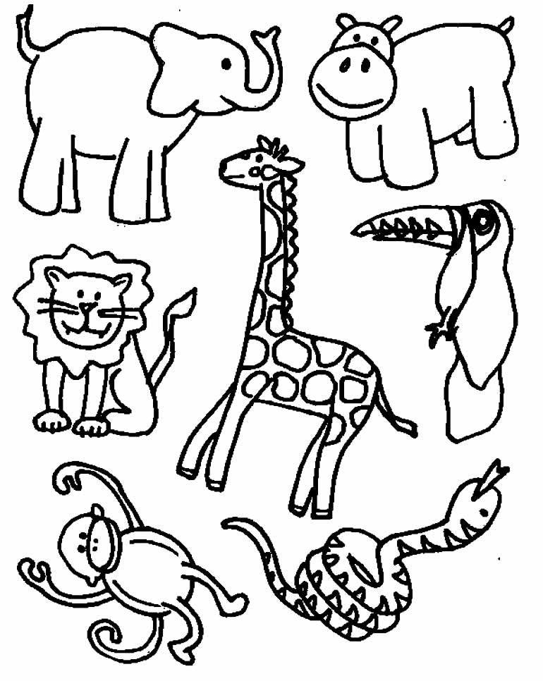 Desenhos de bichos do safari