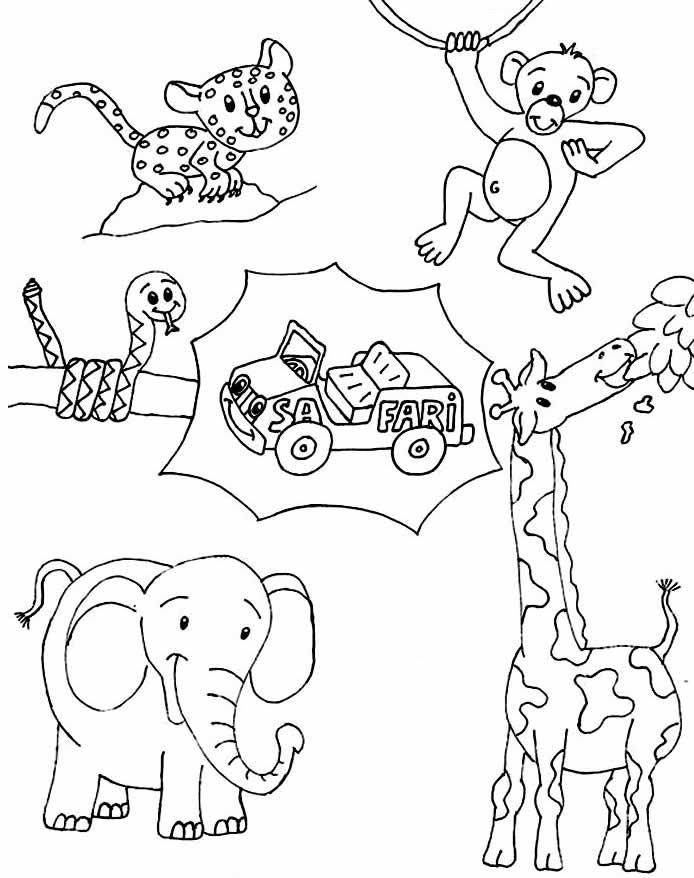 Desenho de animais do safari