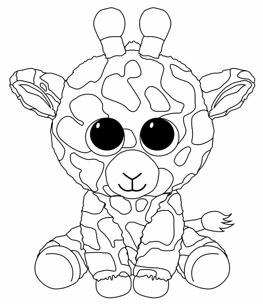 Desenho de girafinha para pintar