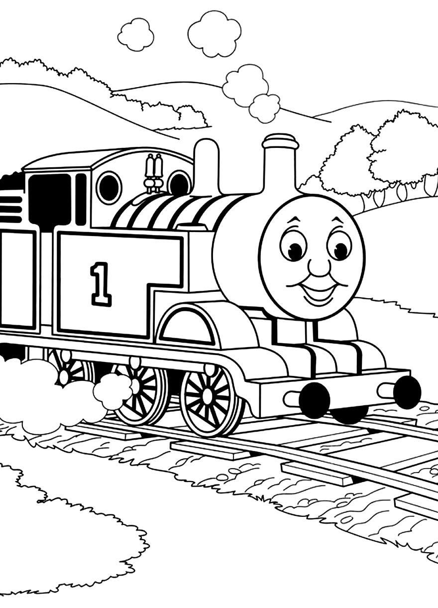 Imagem de Thomas e Seus Amigos para colorir