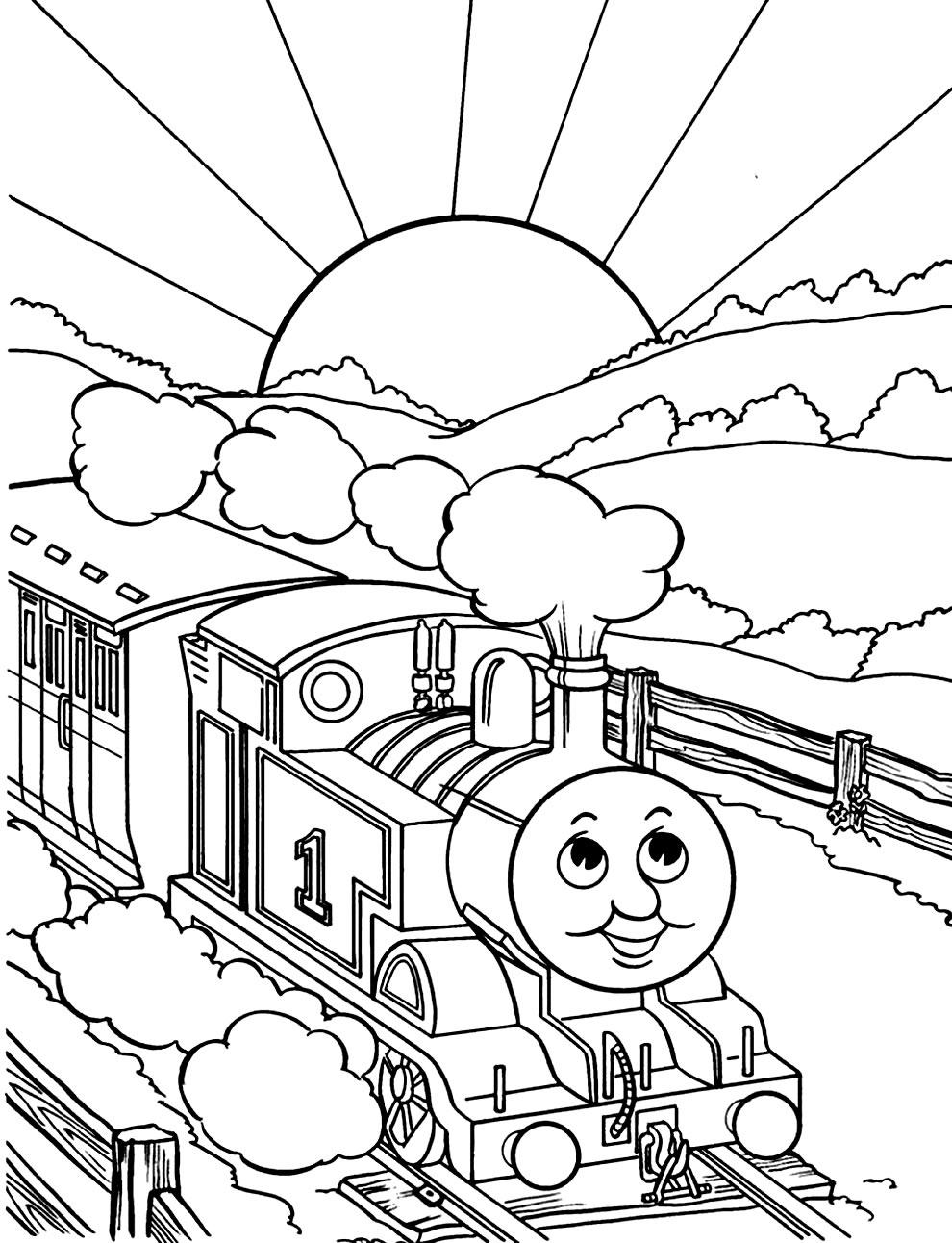 Desenho de Thomas e Seus Amigos para colorir