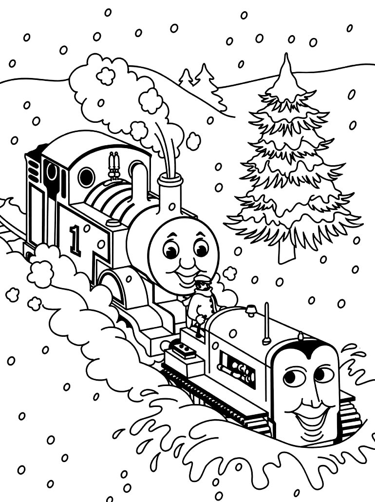 Desenho de Thomas e Seus Amigos para pintar