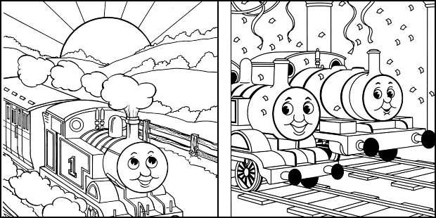 Desenhos de Thomas e Seus Amigos para colorir