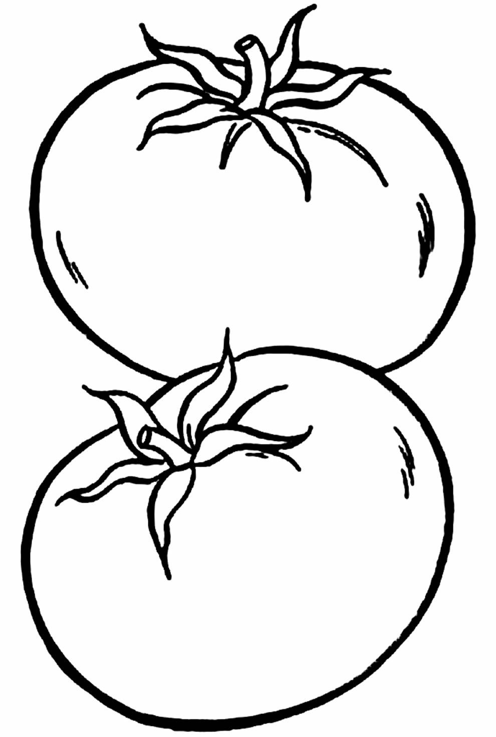 Desenho de Tomates para colorir