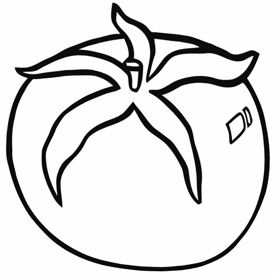 Imagem de tomate para pintar