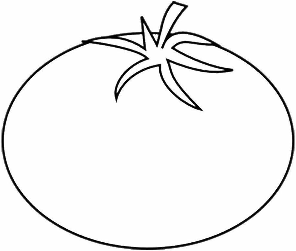 Desenho de Tomate para pintar