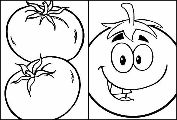 Desenhos de Tomate para colorir